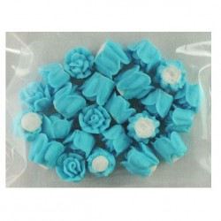 10mm Icing Roses - Blue