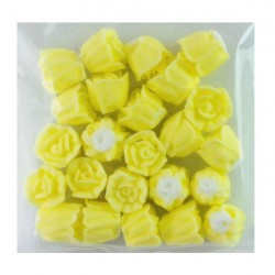 10mm Icing Roses - Yellow