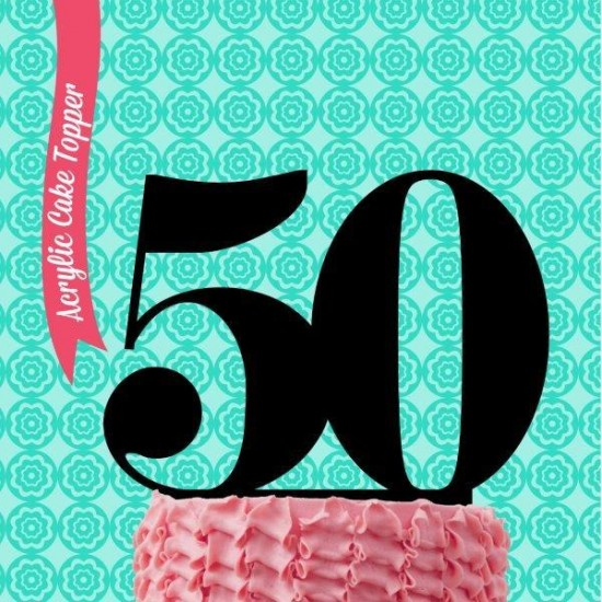 Number 50 Acrylic Cake Topper