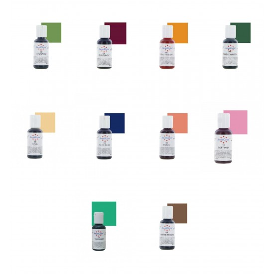 Americolor Gel Colour Set #2 (Set of 10)
