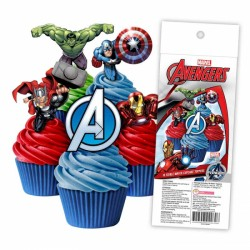 Edible Wafer Cupcake Toppers - Avengers