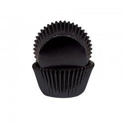 Black Foil Small Baking Cups / Cupcake Cases