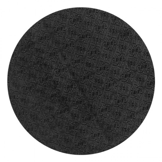 "9"" Round Cake Board - Black (6mm)"