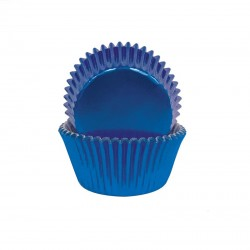 Blue Foil Small Baking Cups / Cupcake Cases