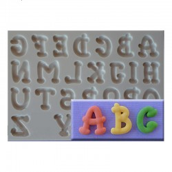 Carnival Font Silicone Mould - Upper Case Letters