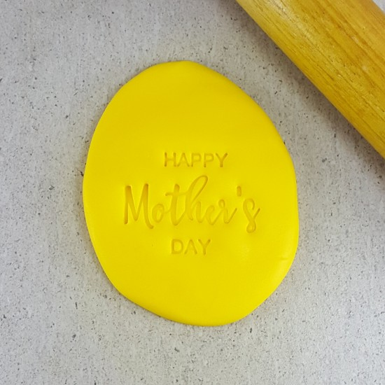 Custom Cookie Cutters Embosser - Happy Mothers Day v2