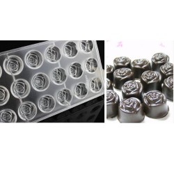 Polycarbonate Chocolate Rose Mould