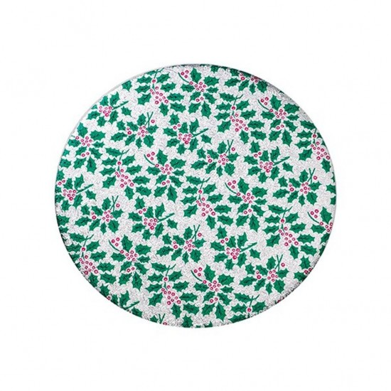 """10"""" Round Christmas Holly Cake Board"""