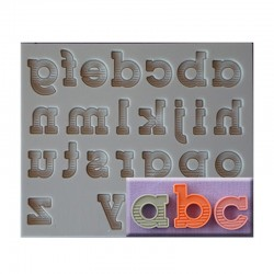 Classic Font Silicone Mould - Lower Case Letters