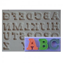 Classic Font Silicone Mould - Upper Case Letters