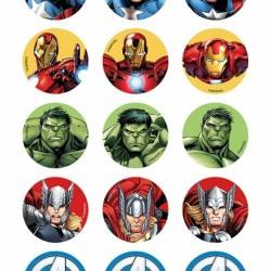 Avengers Cupcake Edible Icing Images