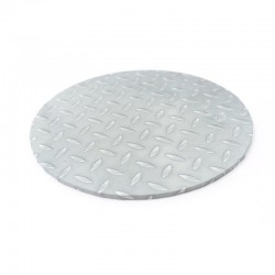 "10"" Round Diamond Plate Look Cake Board"