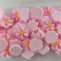 50 Light Pink Icing Drop Flowers