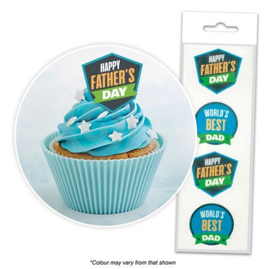 Happy Father's Day Edible Wafer Toppers