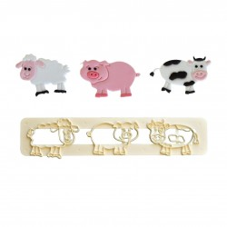 FMM Cute Farm Animal Cutter Set