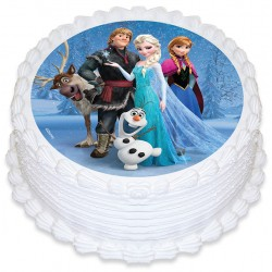 Edible Icing Cake Image - Frozen Group