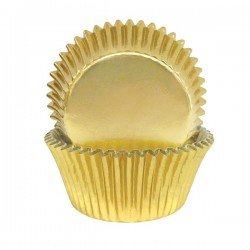 Gold Foil Baking Cups / Cupcake Cases