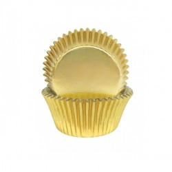 Gold Foil Small Baking Cups / Cupcake Cases