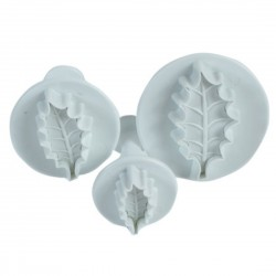 Holly leaf Plunger Cutter Set (3 Pack)