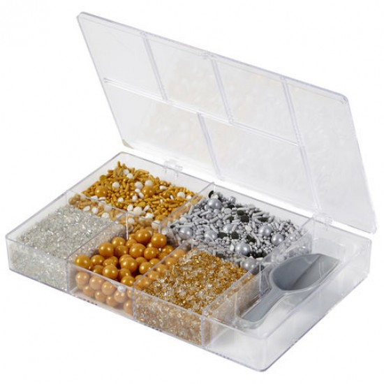 Wilton Metallic Sprinkles Tackle Box