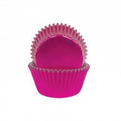 Pink Foil Small Baking Cups / Cupcake Cases