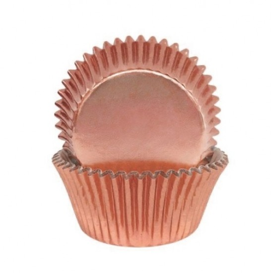 Rose Gold Foil Baking Cups / Cupcake Cases