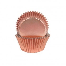 Rose Gold Foil Small Baking Cups / Cupcake Cases