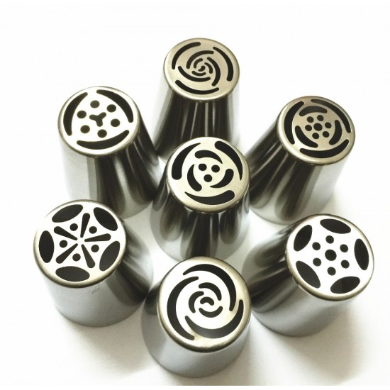 7pc Extra Large Russian Piping Tips