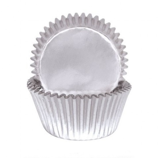 Silver Foil Baking Cups / Cupcake Cases