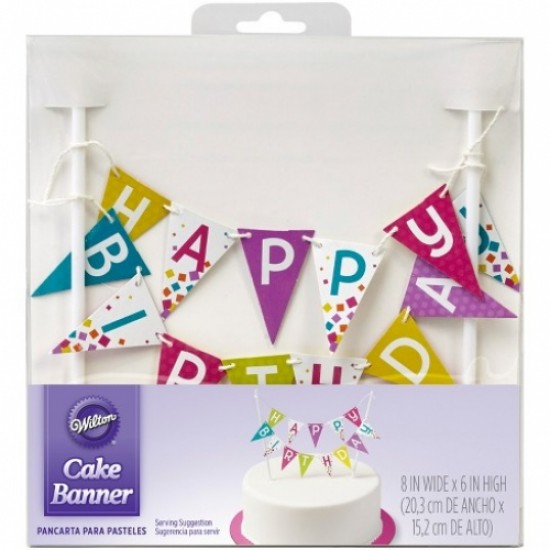 Description Wilton Happy Birthday Banner