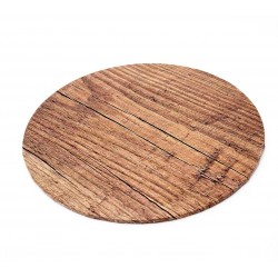 """10"""" Round Wood Look Cake Board"""